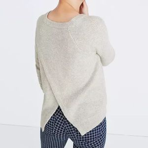 Madewell Province cross back pullover sweater
